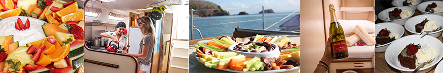 Food, Prima, Sailing Whitsundays, Champagne on boat,