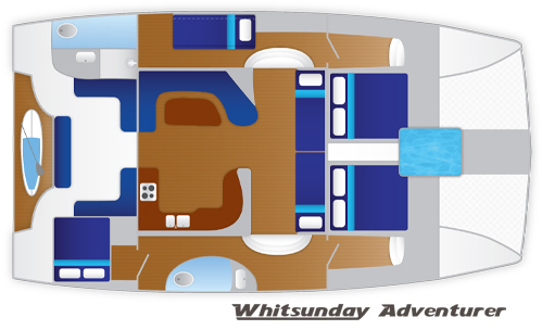Whitsunday Adventurer Floor Plan