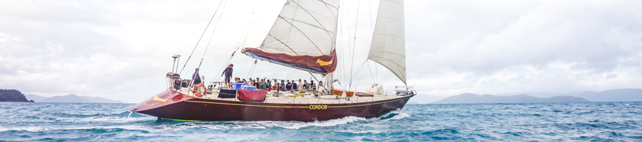 Condor on the open ocean, Sailing Whitsundays, Prosail