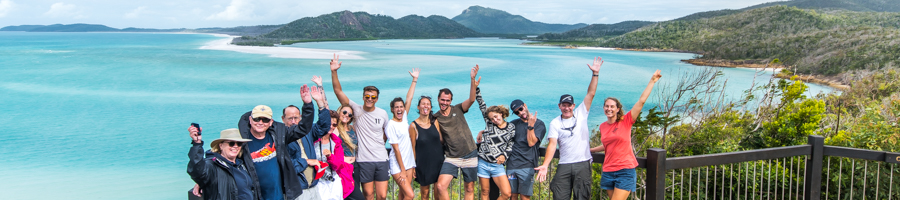 Group at Hill Inlet, Whithaven Beach
