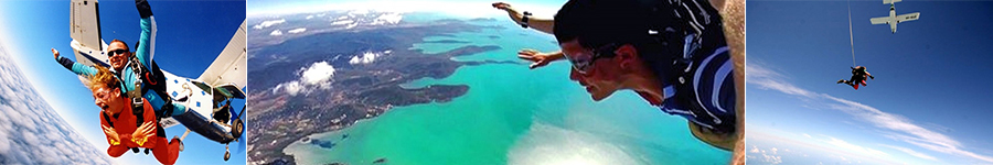 Skydive Airlie, Jumping out of plane, Free falling over the Whitsundays, Plane flying away