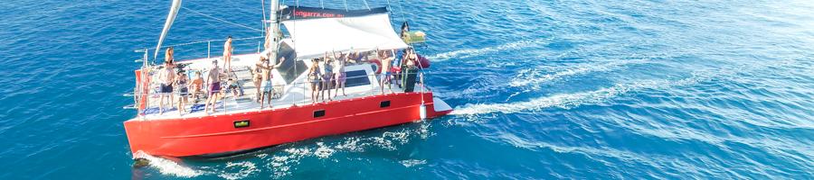 Tongarra, Sailing Whitsundays, RedCats, Sailing