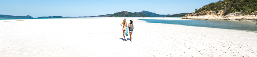 Whitehaven Beach, Walking off on the whitest sand