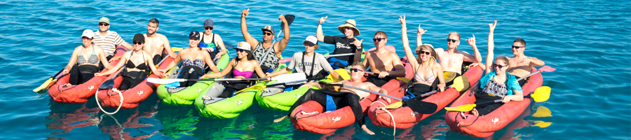 summertime, kayak, whitsunday islands,