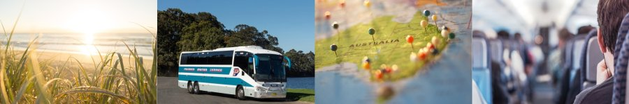 Bus travelling between Fraser Island and Whitsundays