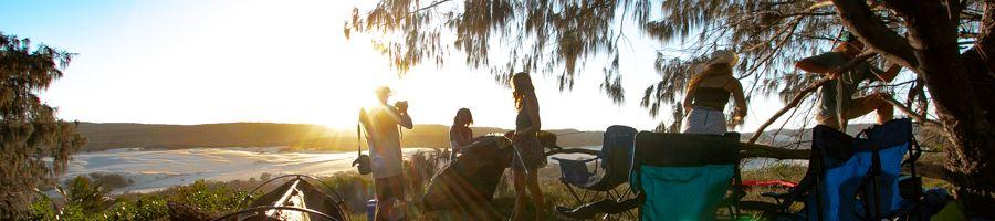 camping, fraser island