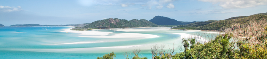 whitehaven beach, whitsundays, lookout