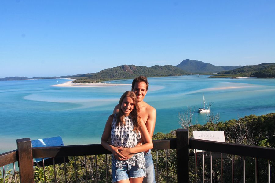 hill inlet lookout, couple