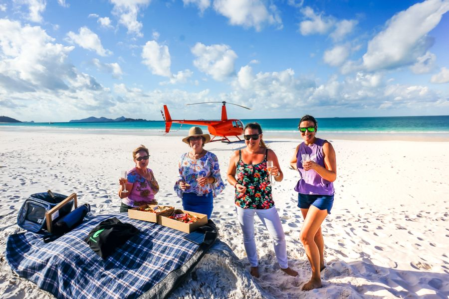 Fun Activities Whitsundays, Landing Helicopter on Whitehaven