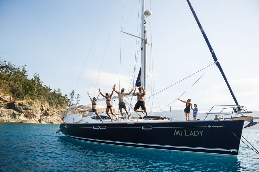 Couples and Honeymooners trips Whitsundays, Jumping off miLady