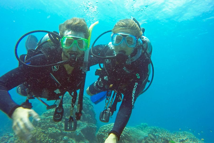 Diving onboard Whitsundays