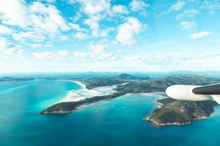 Scenic flights Airlie Beach