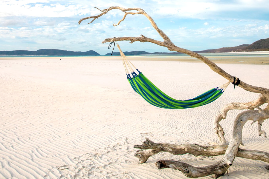 Hammock On Whitehaven Beach