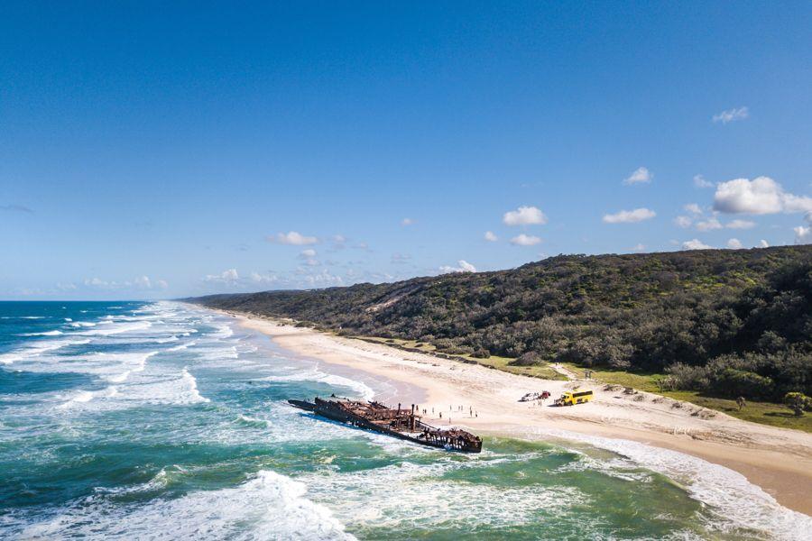 Maheno Wreck on Fraser Island