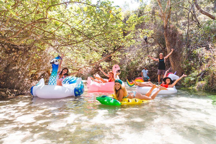 Eli creek, inflatables