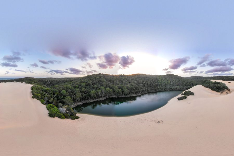 Lake Wabby, From above Fraser Island