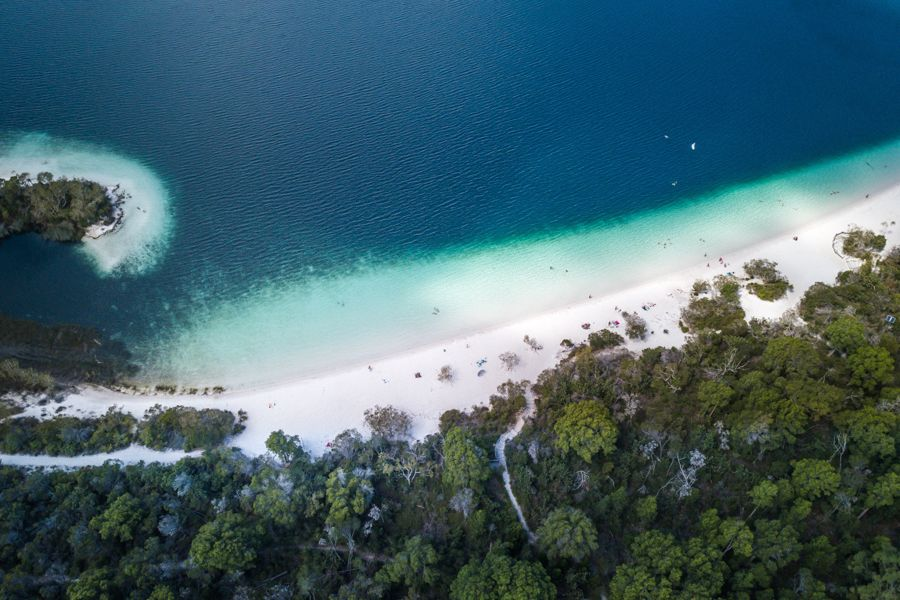 Lake Mckenzie Colour Changing white and blue