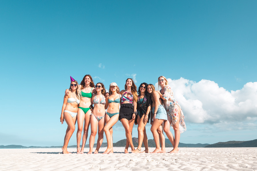 Group on Whitehaven Beach