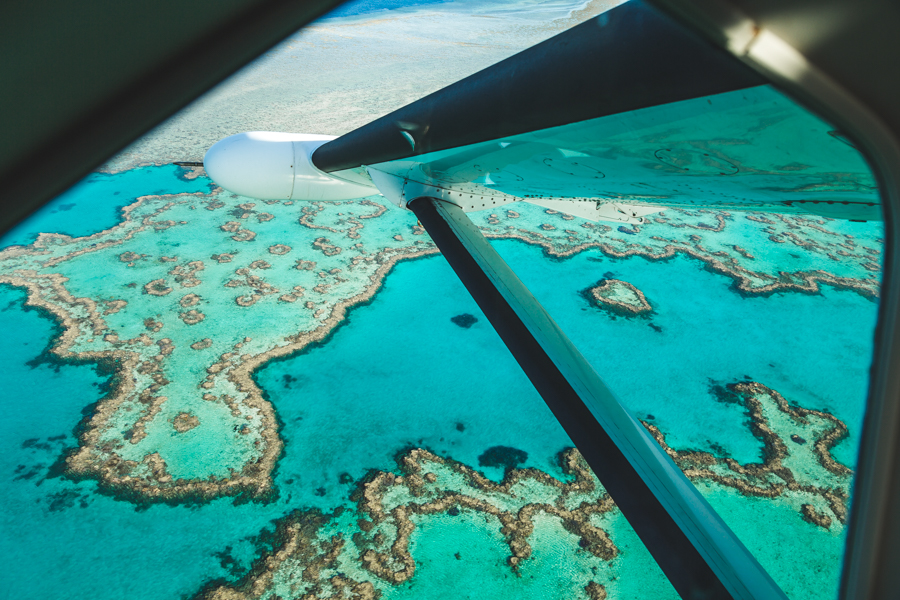 Heart Reef, Scenic flight GSL whitsundays
