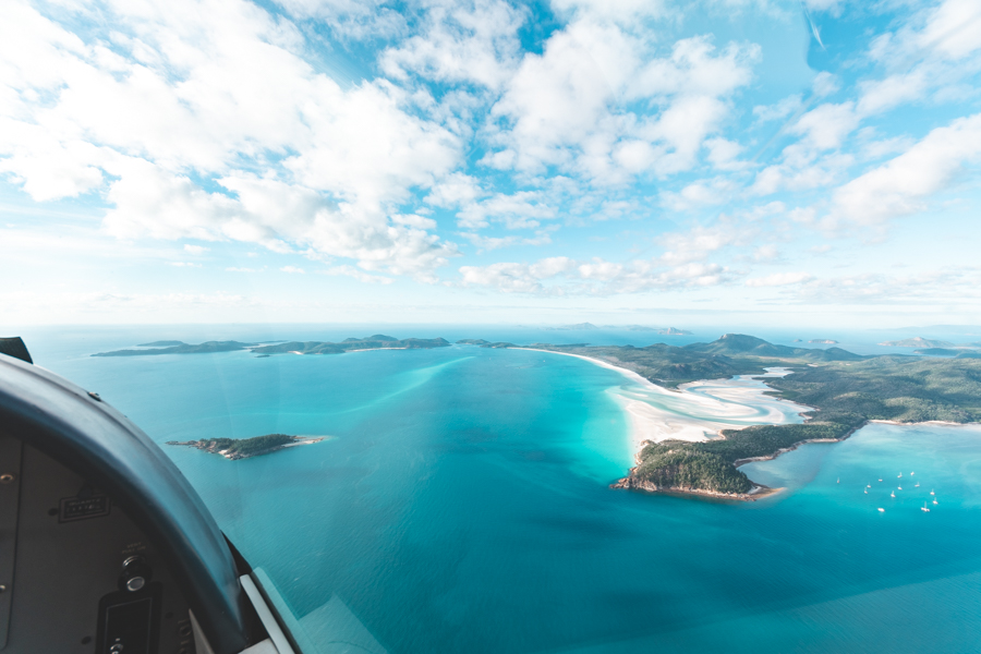 Airlie Beach Scenic Flights, Whithaven shifting sands