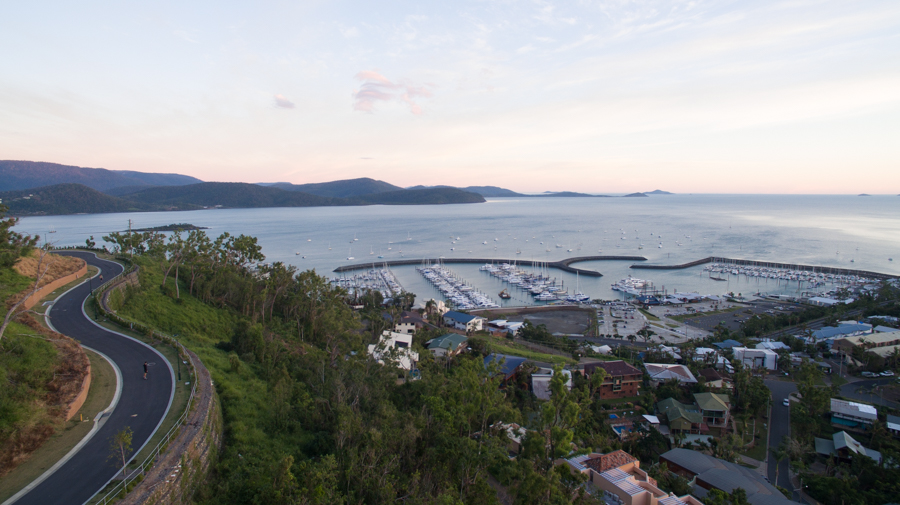 airlie beach, view, cruise ship
