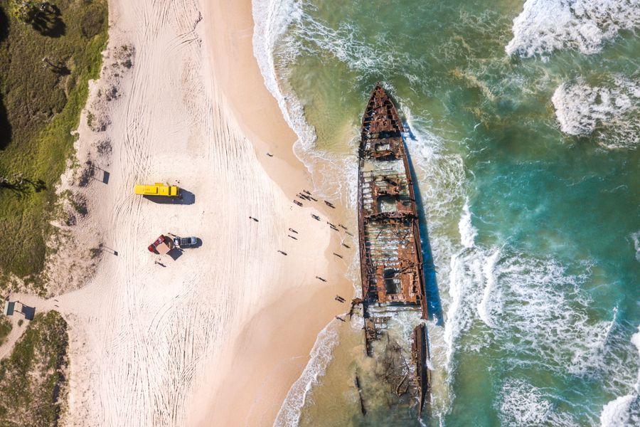 Maheno Wreck Fraser Island, Fraser tours