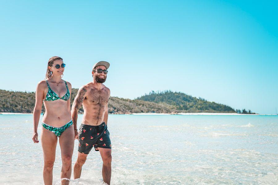 Whitsundays couple having fun on whitehaven