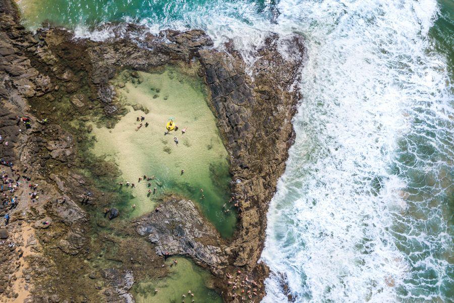 Champagne pools, Fraser Island, Float