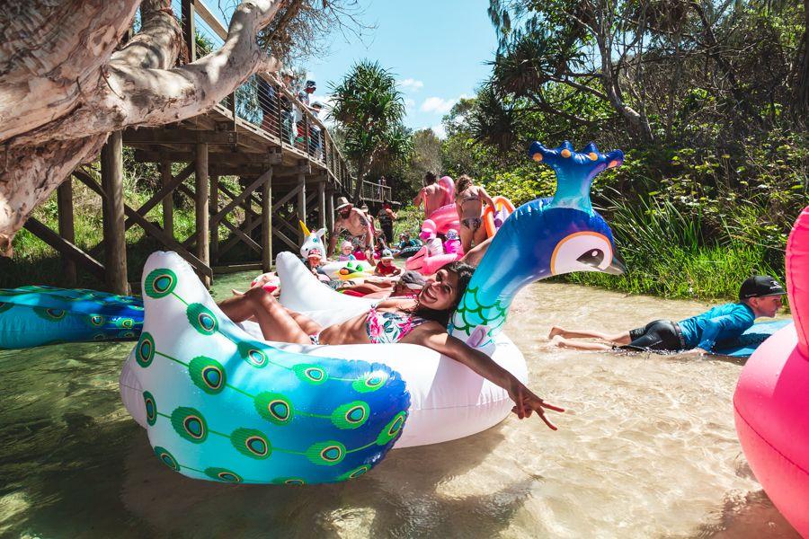Eli Creek Fraser Island, Having Fun, Inflatables on Fraser