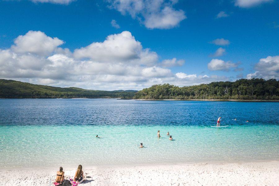 World Heritage listed Fraser island, Worlds largest sand island, lake mckenzie