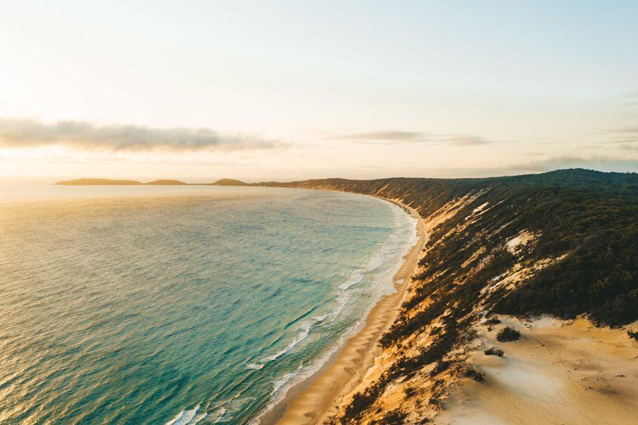 Coloured Sands Rainbow Beach From Above