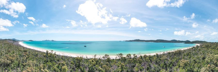 Whitehaven Beach South Panorama