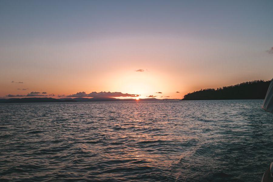 sunset, airlie beach, whitsundays
