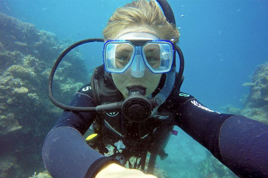 scuba diving, new horizon