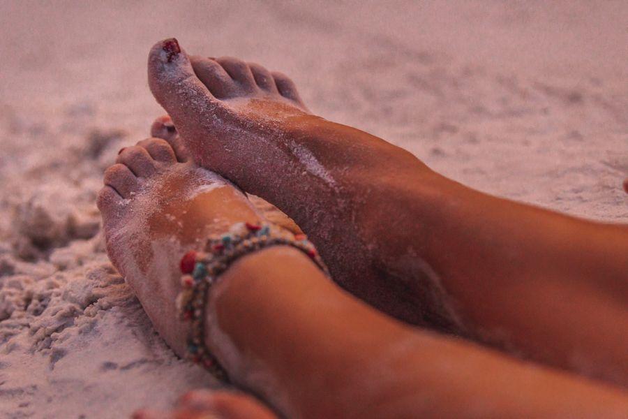Whitehaven Beach Feet