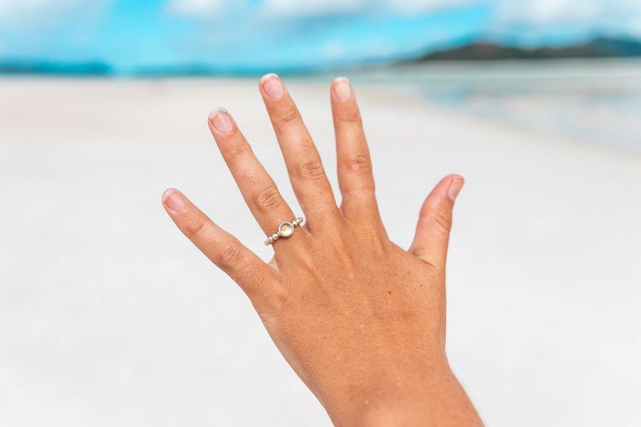 Whitehaven Beach hand