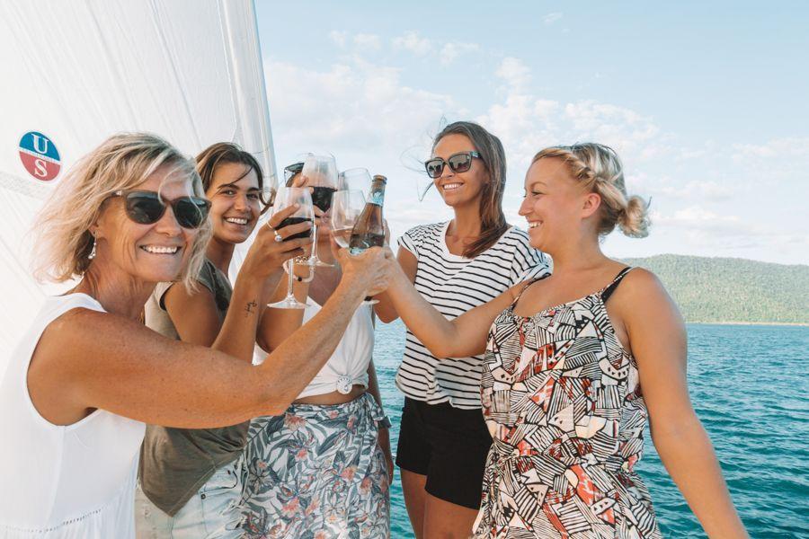 group, sailing, wedding