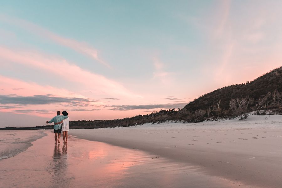 whitehaven sunset, couple