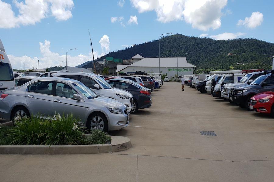 Parking at the Cruise Whitsunday Marina Terminal