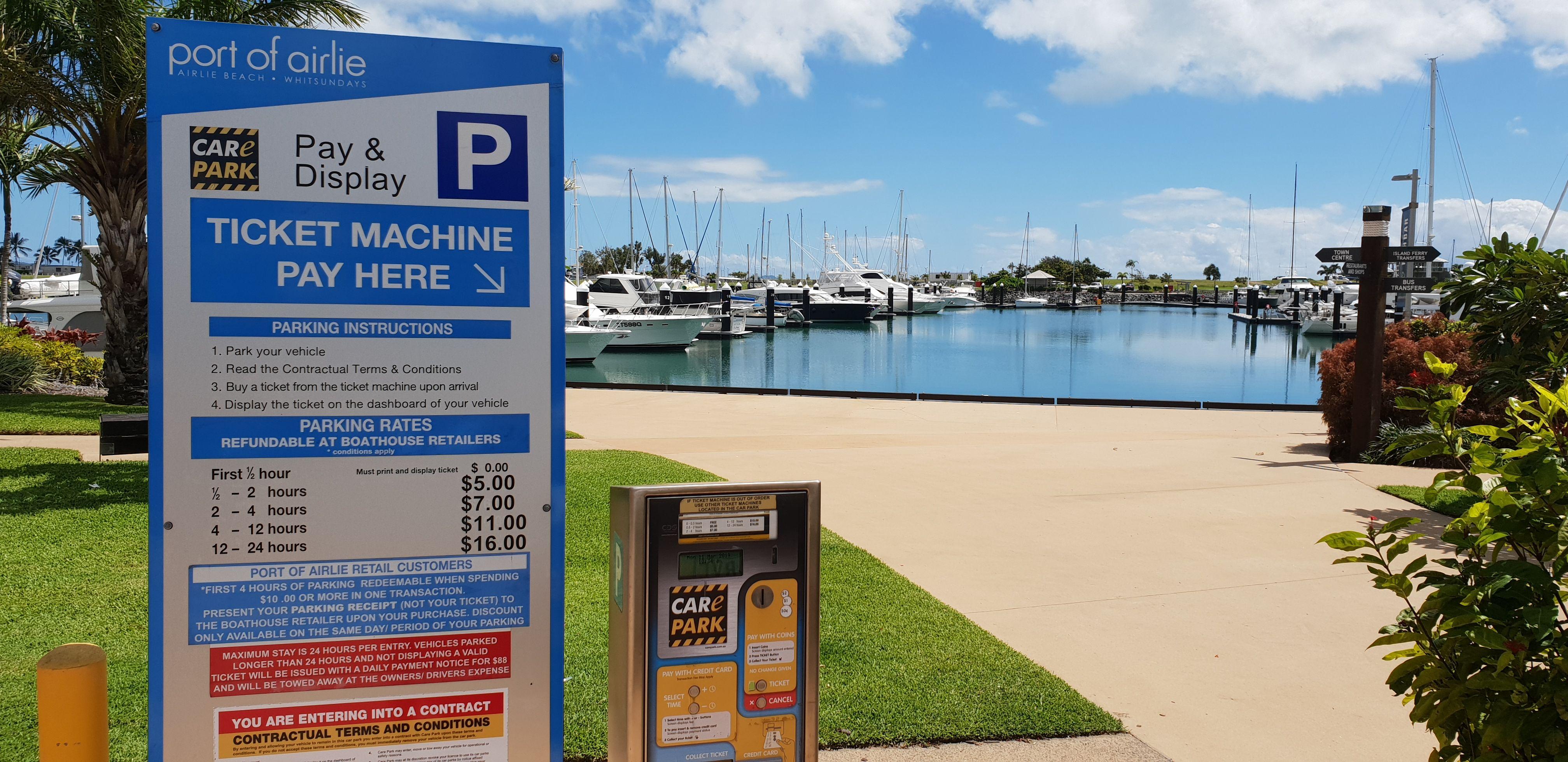 Port of Airlie Parking