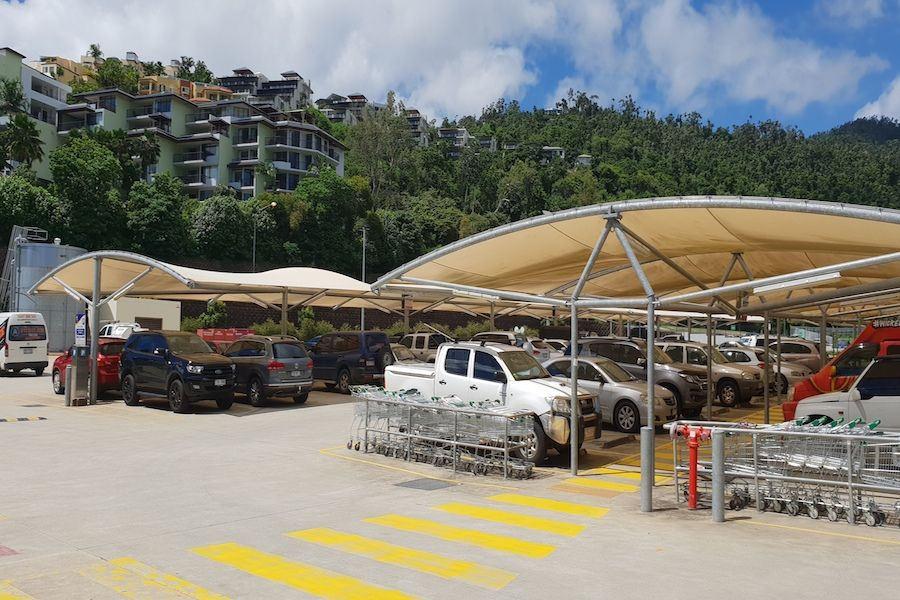 Parking at Woolworths