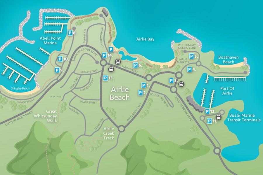 airlie beach map