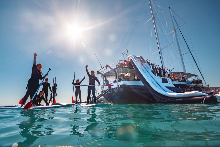 Paddle-boarding Whitsundays Atlantic Clipper