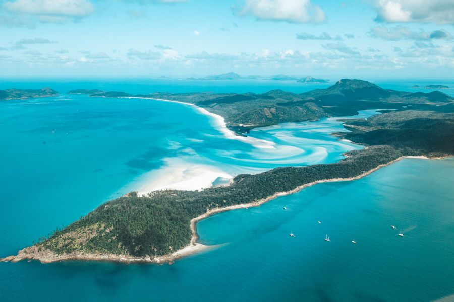 Hill Inlet Lookout From Above