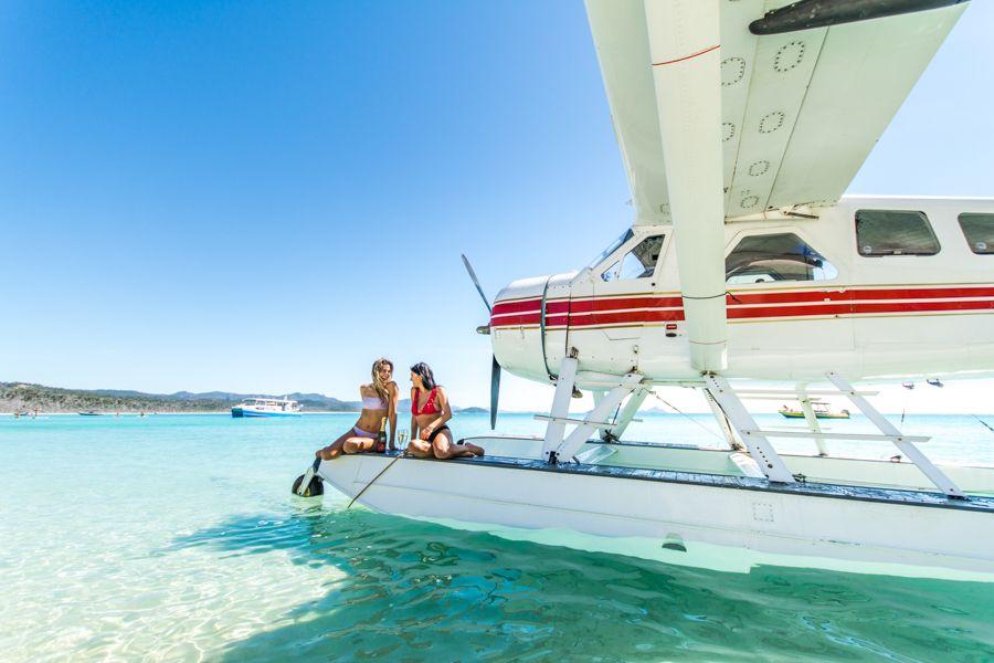 sea plane, whitehaven beach
