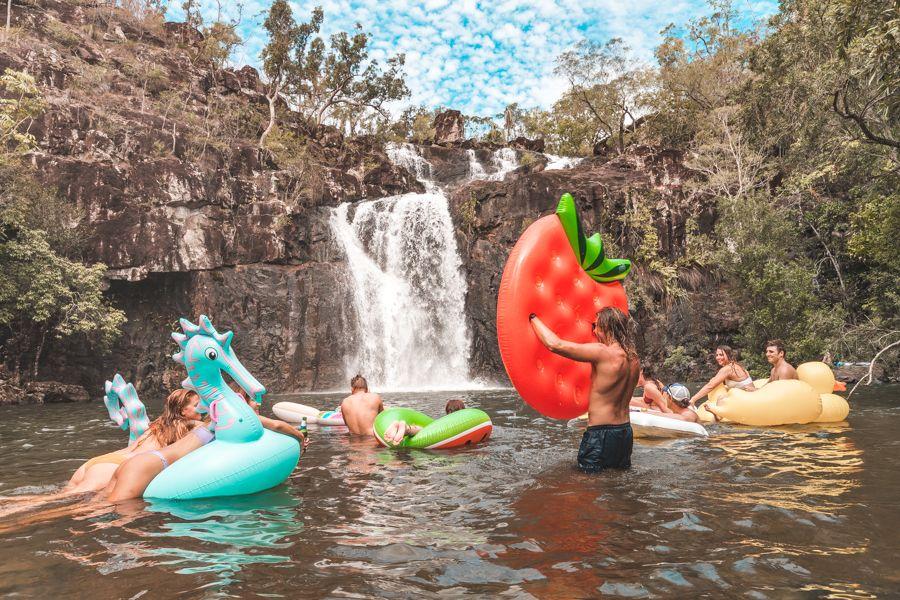 Fun at Cedar Creek Falls