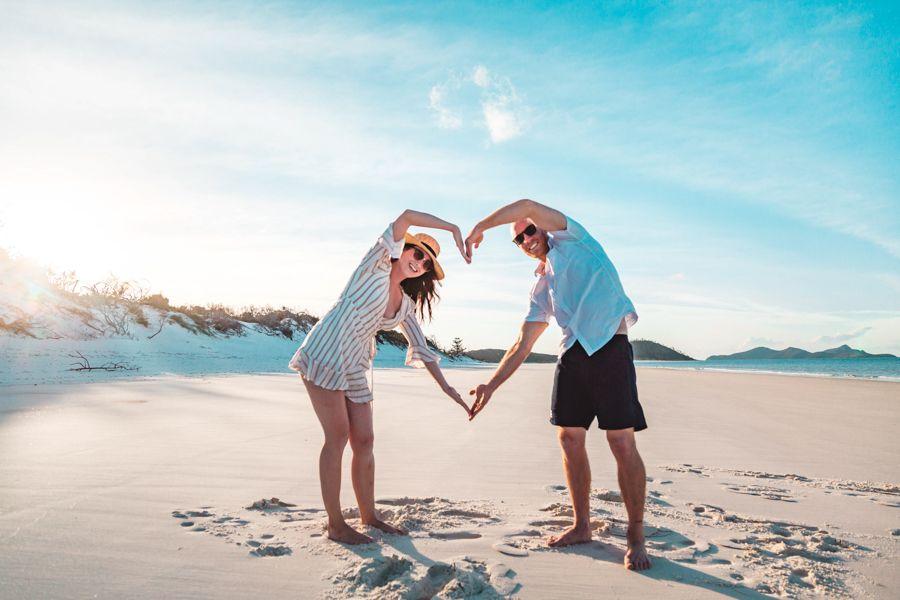Whitehaven Beach Couple