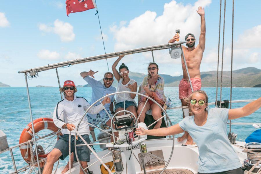 siska, backpackers, sailing