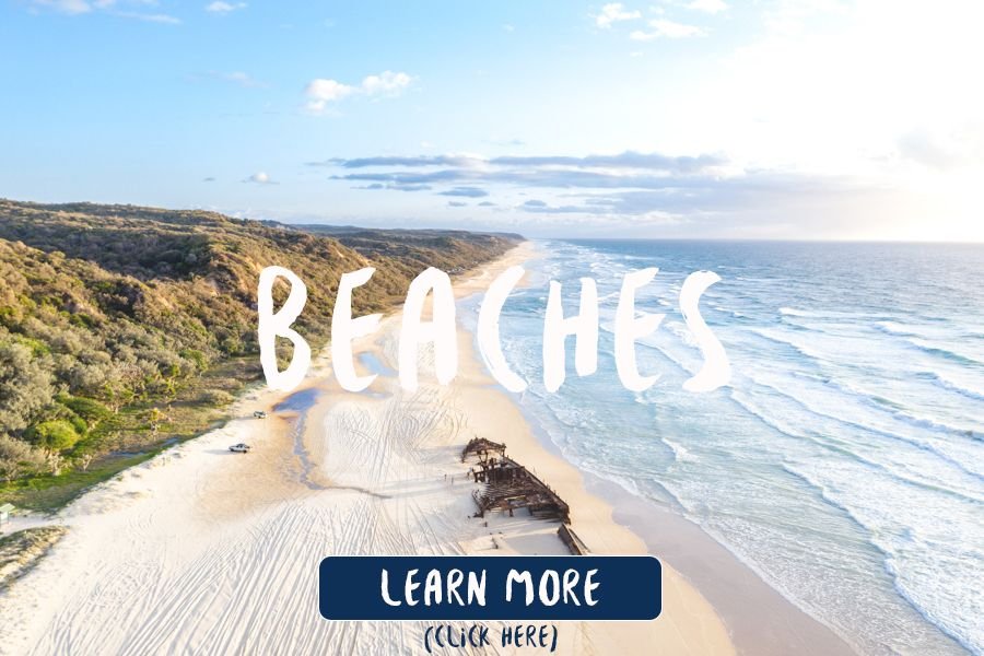 Beaches on Fraser Island