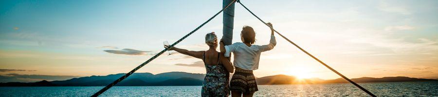 Whitsunday Blue Magic Catamaran Sailing Couple